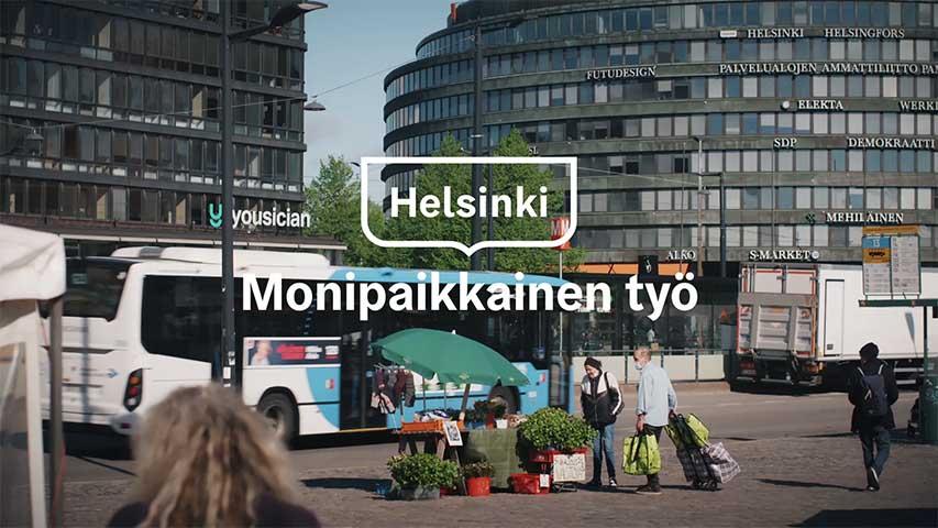 Monipaikkainen työ Helsingin kaupungilla