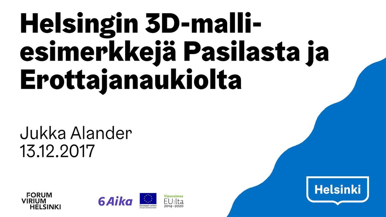 Helsinki 3d city model: Keski-Pasila district and Erottaja square
