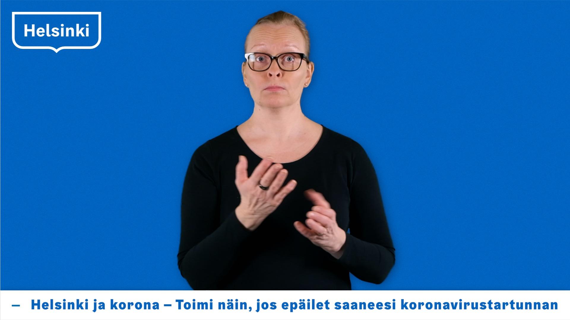 Helsinki ja korona - Toimi näin, jos epäilet saaneesi koronavirustartunnan