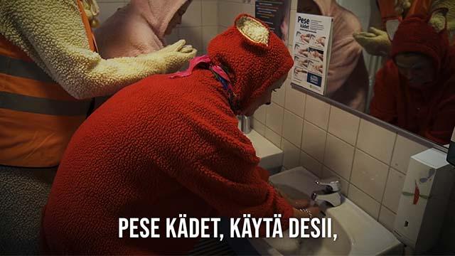 Käsien pesu (se mieleesi paina)