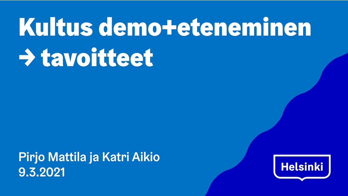 Kultus.fi:n tilannekatsaus ja demo 9.3.2021